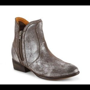 Seychelles Pewter Metallic Lucky Penny Ankle Boots